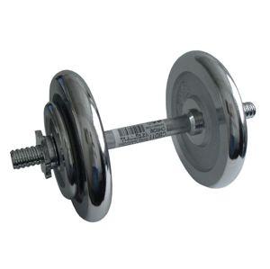 CorbySport 4559 Činka nakládací, jednoruční, chromová - 14 kg