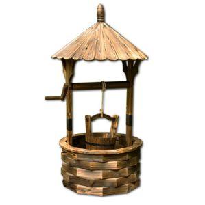 Zahradní dekorace - dřevěná studna
