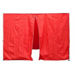 Garthen PROFI 30693 Sada 2 bočních stěn pro zahradní stan 3 x3 m červená