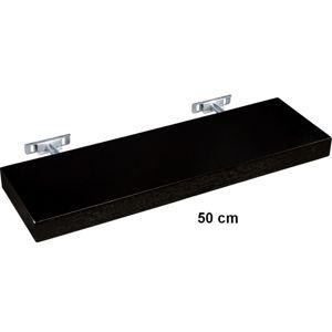 STILISTA Nástěnná police SALIENTO - hnědočerná 50 cm