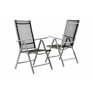 Zahradní sada 2 skládací židle GARTHEN - černá D06143