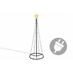 Nexos 47220 Vánoční dekorace - světelná pyramida stromek - 180 cm teple bílá