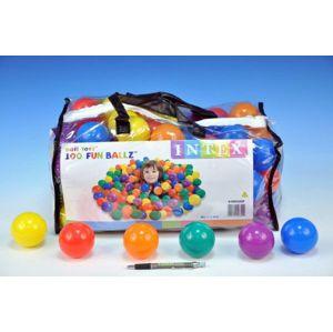 Míček Míčky do hracích koutů 6 5cm barevný 100ks v plastové tašce 2+