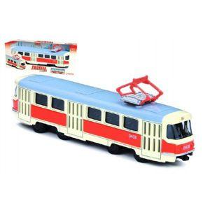 Rappa Unikátní kovová tramvaj na zpětný chod 16 cm