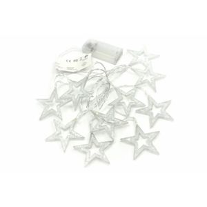 Nexos Vánoční dekorativní osvětlení - třpytivé hvězdy - 10 LED teple bílé D57422