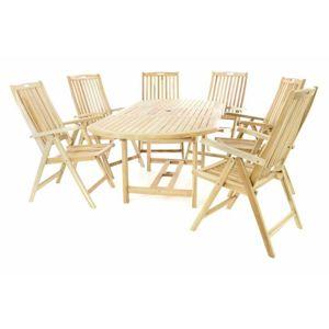 DIVERO 60463 zahradní nábytek z teaku, rozkládací stůl 170/230cm