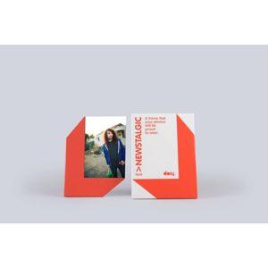 Stojánek na fotku 10x15 s magnetem - červená