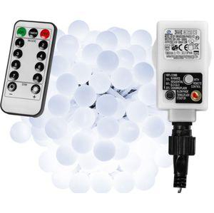 VOLTRONIC® Párty LED osvětlení 10 m - studeně bílá 100 diod + ovladač