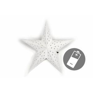 Nexos 32546 Vánoční dekorace - hvězda s časovačem 60 cm - 10 LED, bílá