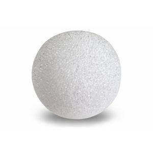 Nexos Světelná dekorace - LED svítící koule - 15 cm teple bílá