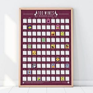 Stírací plakát - 100 nejlepších vín