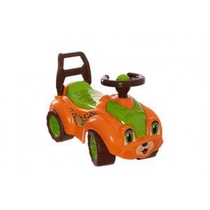 Odrážedlo auto plast oranžovo-zelené 29x36x62cm v sáčku od 12 do 35 měsíců