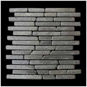 Mozaika z andezitu Parquet Black Candi Alur Style - 1× síťka