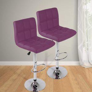 Miadomodo 74109 Barová stolička, fialová 2 ks