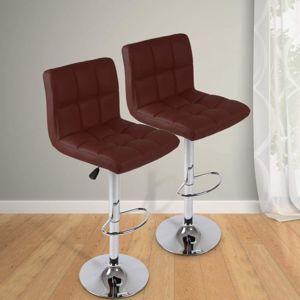 Miadomodo 74107 Barová stolička, tmavě červená 2 ks